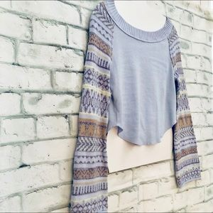 Free People Fairground Light Blue Thermal Top XS